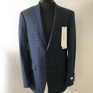 Men's Calvin Klein Navy Plaid Sports Coat